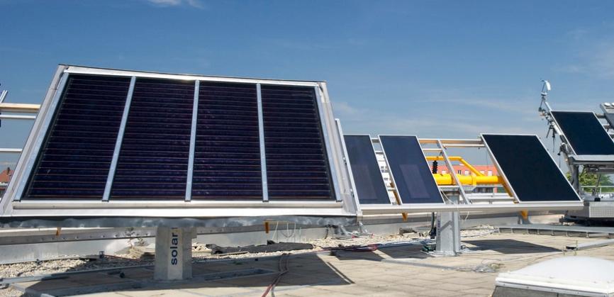 Solartestanlage